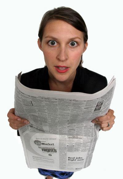 עד מתי נוכל לקרוא עיתון? (צ'- shutterstock)