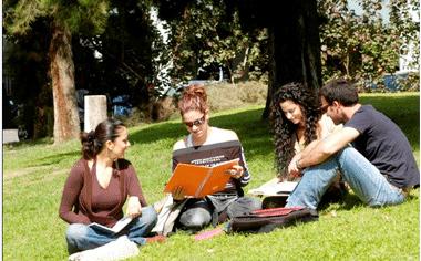 סטודנטים על הדשא. לא יתחילו את הסטאז' בזמן. (צ'-האוניברסיטה הפתוחה)
