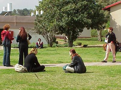 על הדשא בין השיעורים (צ-מכללת בית ברל)