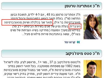 לפני: תואר ראשון ושני (אתר האינטרנט של ישראל ביתנו)