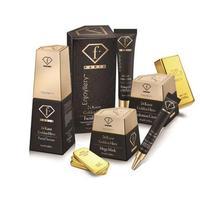 """ערכת מוצרי הזהב 24K של Fashion TV Cosmetics. יח""""צ,"""