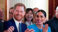 הנסיך הארי ואשתו מייגן, 5 במרץ 2020. רויטרס