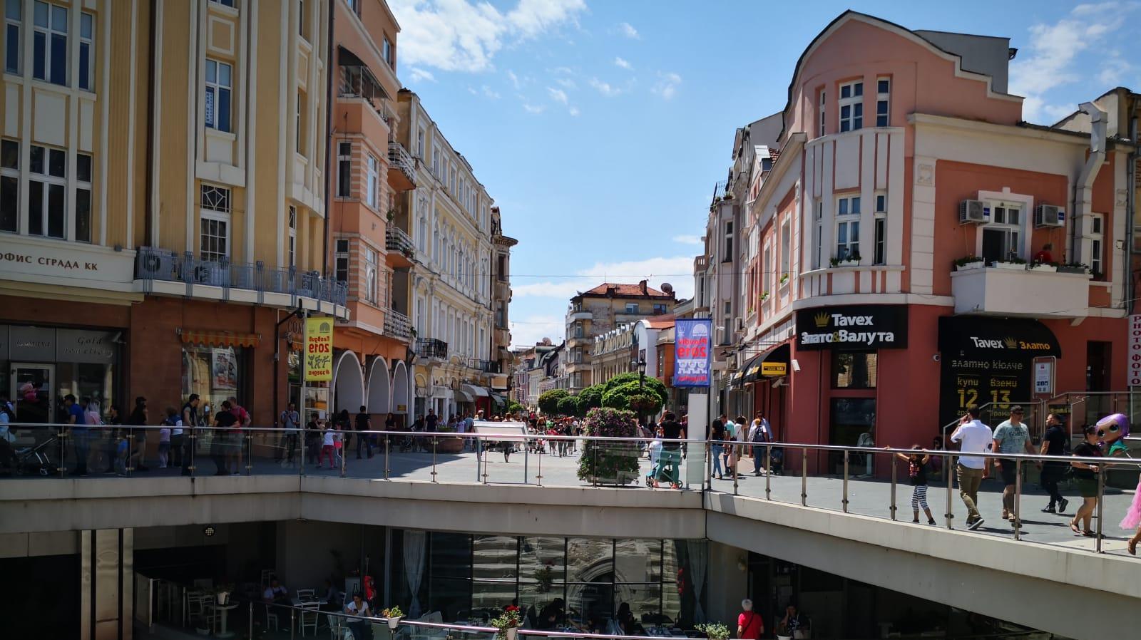 מדרחוב בעיר פלובדיב בולגריה. דוד רוזנטל