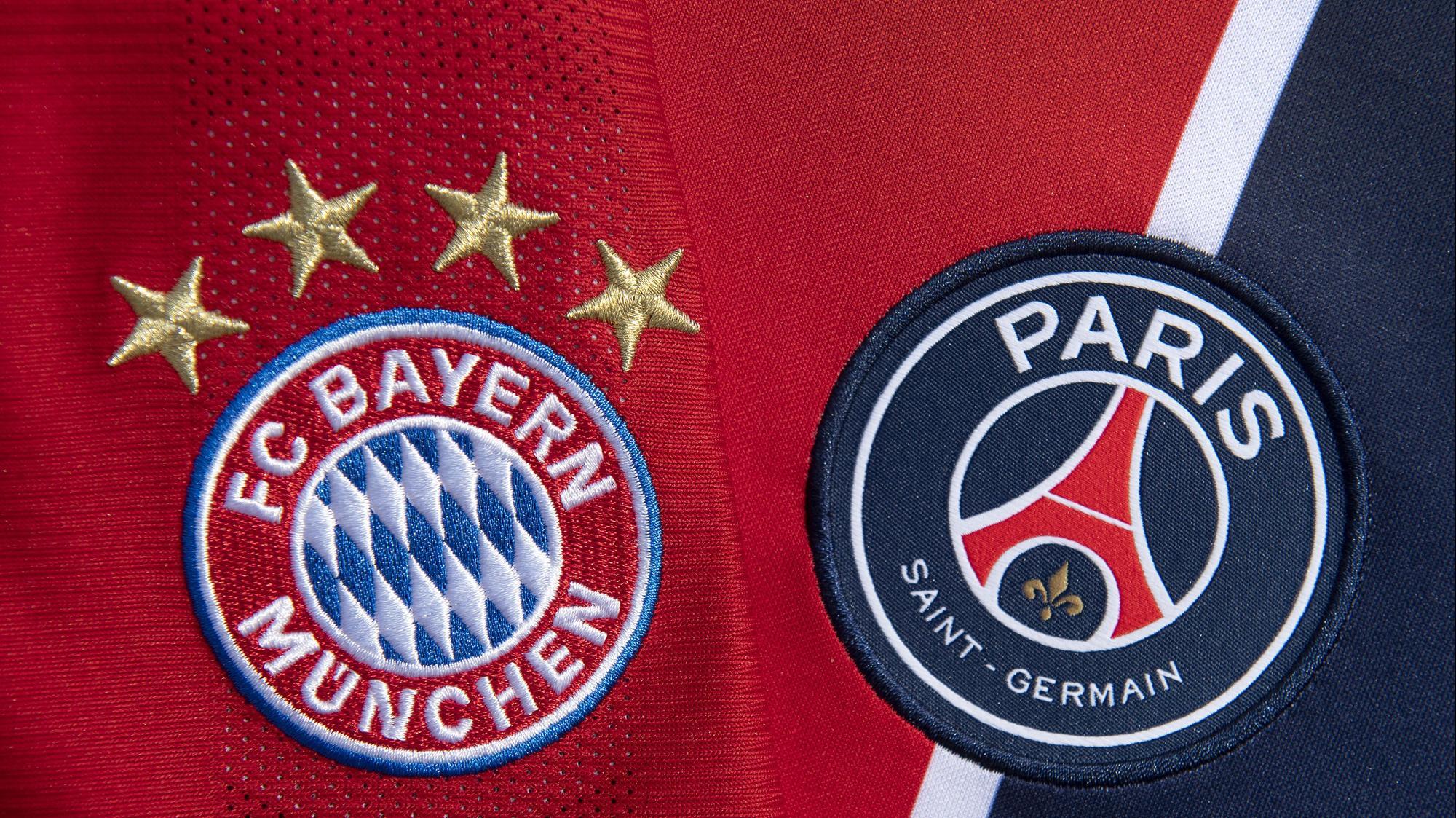 סמלי הקבוצות: פריז סן ז'רמן מול באיירן מינכן. Visionhaus, GettyImages