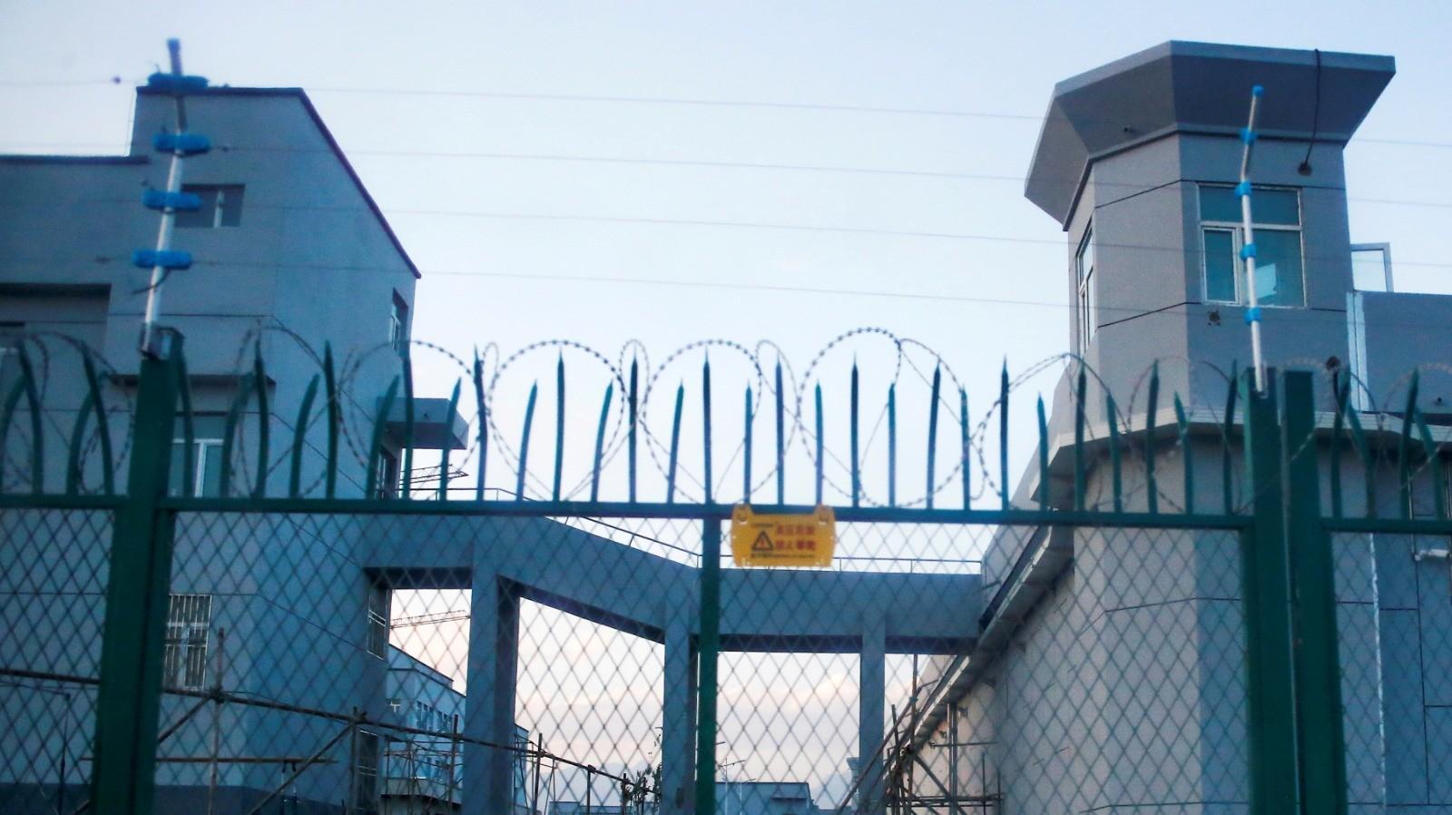 מחנה מעצר במחוז שינג'יאנג, סין, 4 בספטמבר 2018. רויטרס