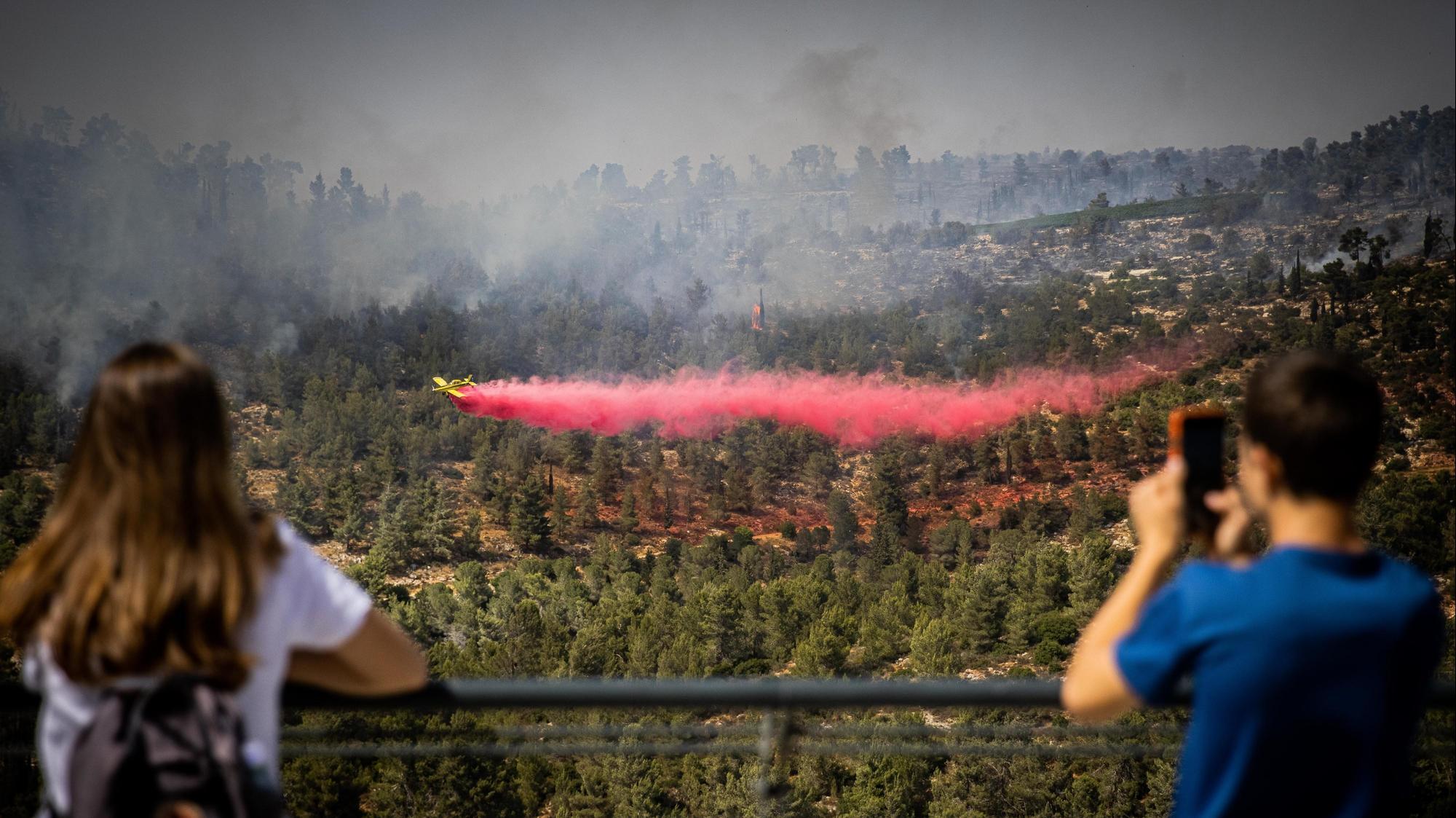 נזקי השריפות סמוך לנווה אילן 9 ביוני 2021. יונתן זינדל, פלאש 90