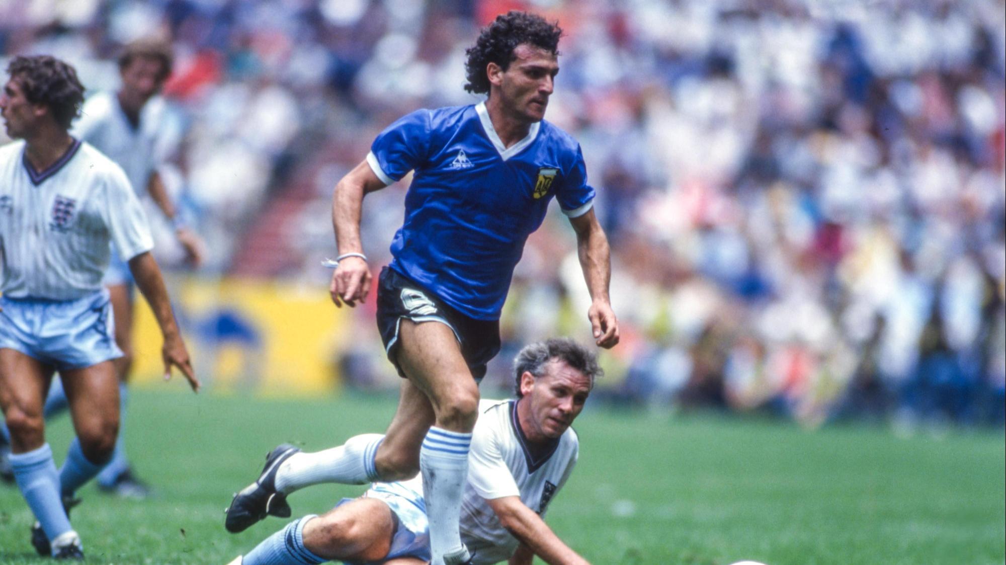 חוסה לואיס קוצ'ופו במדי נבחרת ארגנטינה, מונדיאל 1986. Michel Barrault / Onze, GettyImages