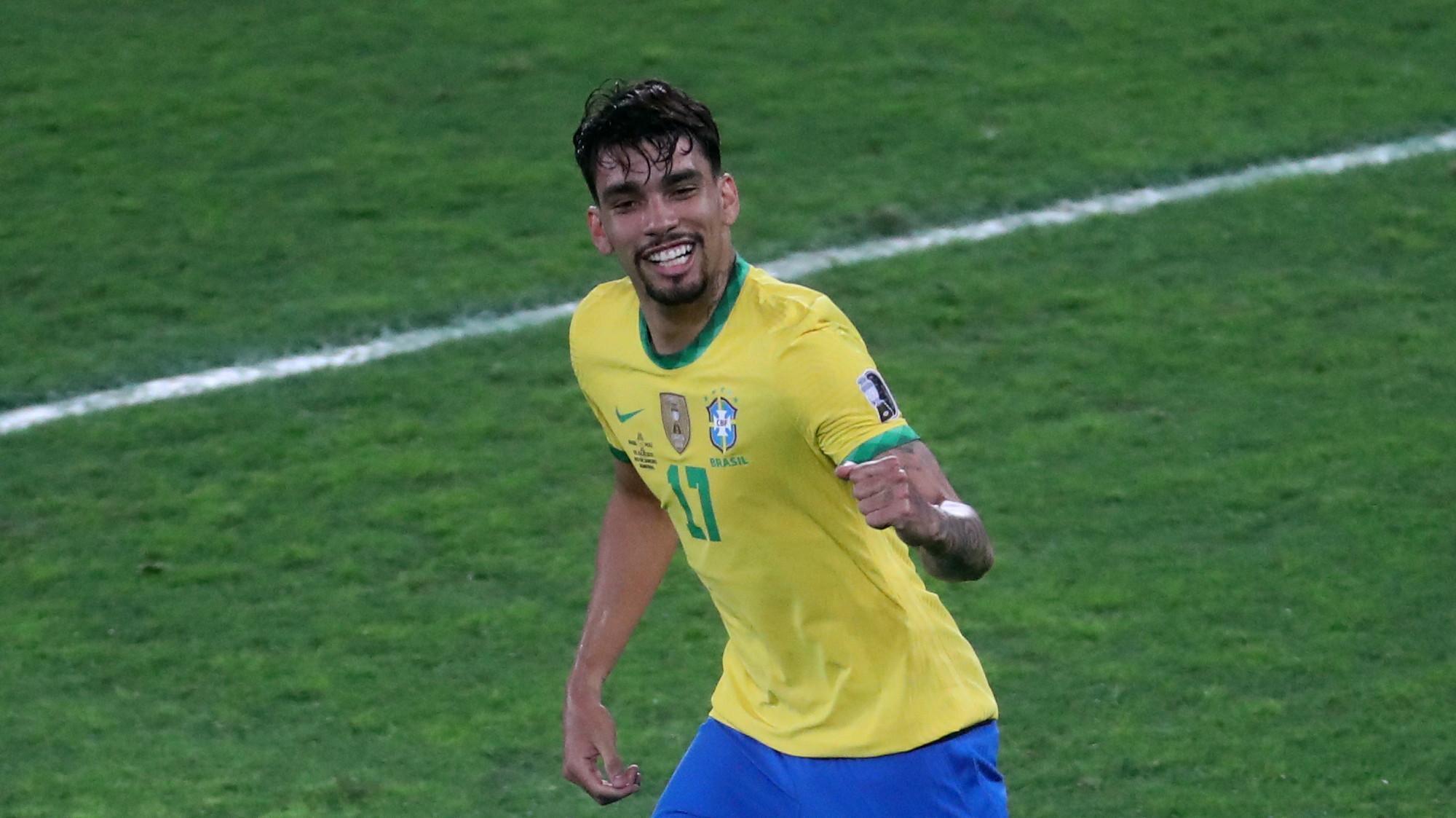 לוקאס פאקטה שחקן נבחרת ברזיל. רויטרס