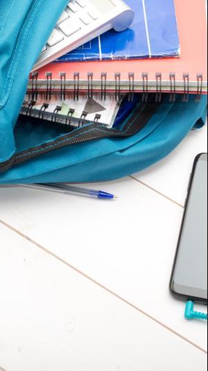 סמארטפון למידה מהבית. ShutterStock