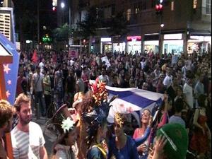 עשרות אלפים מפגינים במחאה על מחירי הדיור 24.7.11. קובי אליהו