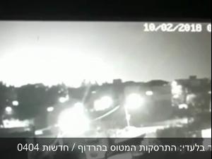 """נפילת מטוס ה-F-16- תיעוד: רגעי התרסקות של מטוס חיל האוויר שננטש לאחר שנפגע מירי נ""""מ של צבא סוריה. אתר רשמי"""