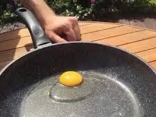 האם ניתן לטגן ביצה בחוץ מרוב שחם?. מן הרשת, מערכת וואלה!