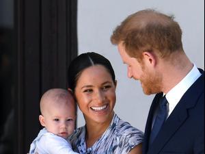 הנסיך הארי, מייגן מרקל ובנם ארצ'י באפריקה. GettyImages