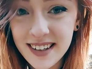 בחורה שנקמה בבן הזוג שבגד בה - עם נצנצים. TIKTOK, צילום מסך