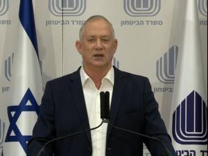 """גנץ: """"ביטחון ישראל בסכנה, לא אתפשר עוד על חוק הגיוס"""" 27.01.21. לשכת העיתונות הממשלתית"""