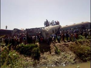 יותר מ-30 הרוגים ו-60 פצועים בתאונת רכבות במצרים 26.3.21. רויטרס