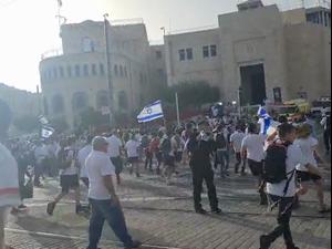 באמצע צעדת ירושלים: אזעקה בכל האיזור 10.5.21. מאיה הורודניצ'אנו