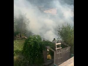 המטח לבירה: פגיעה בבית באזור הרי ירושלים  10.5.21. תיעוד ברשתות חברתיות לפי סעיף 27 א' לחוק היוצרים, צילום מסך
