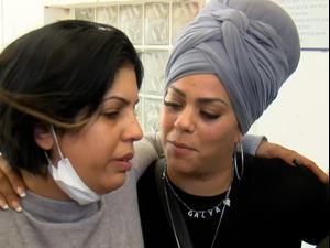 מפגש מרגש בין האם לאישה שהצילה את בתה בזירת הנפילה בחולון  12.5.21. ניב אהרונסון