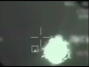 """יירוט מל""""ט חמאס מעל הים על ידי מטוס חיל האוויר 13.5.21. דובר צה""""ל"""