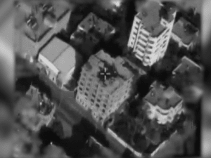 """צה""""ל תקף בניין רב קומות בו נמצא סניף של בנק הייצור הפלסטיני של חמאס. ללא, דובר צה""""ל"""