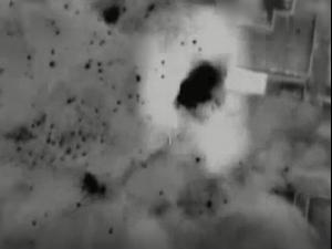 """תיעוד תקיפות מטרות טרור ברצועת עזה, 19 במאי 2021. דובר צה""""ל"""