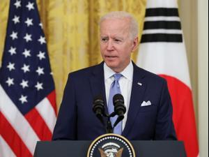 """נשיא ארה""""ב, ג'ו ביידן, 22 במאי 2021. רויטרס"""