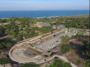 הדמיה של הבזיליקה בגן לאומי אשקלון. צורמל טורנר אדריכלות נוף, רשות הטבע והגנים
