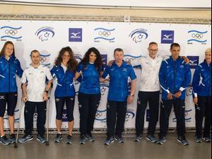 הצגת המדים של המשלחת האולימפית של ישראל לטוקיו. ניב אהרונסון