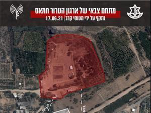 """""""הקש בגג"""" והפצצת מתחמי חמאס, 17 ביוני 2021. דובר צה""""ל"""