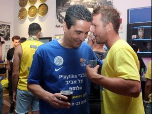 יאניס ספרופולוס, חגיגות האליפות של מכבי תל אביב. לילך וייס