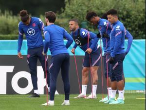 שחקני נבחרת אנגליה באימון. רויטרס