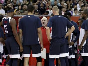 גרג פופוביץ' מאמן נבחרת ארצות הברית בכדורסל. Ng Han Guan, AP