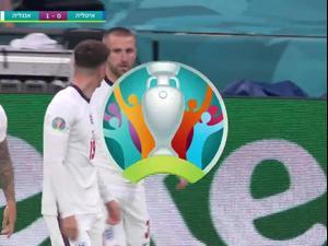 לוק שואו כובש וקובע 0:1 לזכות נבחרת אנגליה מול איטליה, גמר יורו 2020. ספורט 1