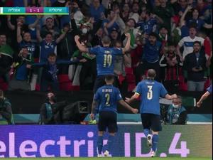 תקציר גמר היורו: איטליה גוברת 2:3 על אנגליה בפנדלים וזוכה בטורניר, אחרי 1:1 בתום 120 דקות. ספורט 1