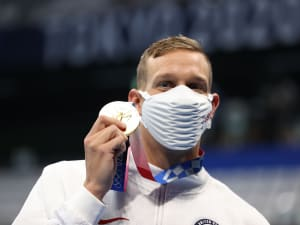 קיילב דרסל זוכה במדליית הזהב. Ian McNicol, GettyImages