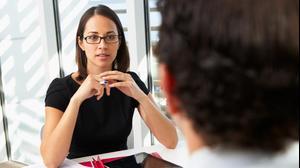 אישה בראיון עבודה. ShutterStock