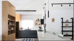 עיצוב ותכנון דירת קבלן בקריית מוצקין אדריכל נועם לוי. עינת דקל,