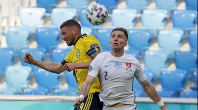 מרכוס ברג, נבחרת שבדיה, מול פטר פקאריק, נבחרת סלובקיה. רויטרס