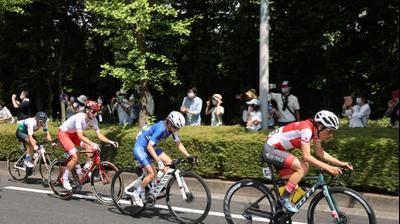 רוכבת האופניים הישראלית עומר שפירא. רויטרס
