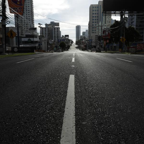 כביש בפנמה סיטי בצל התפשטות הקורונה, אוגוסט 2020. AP
