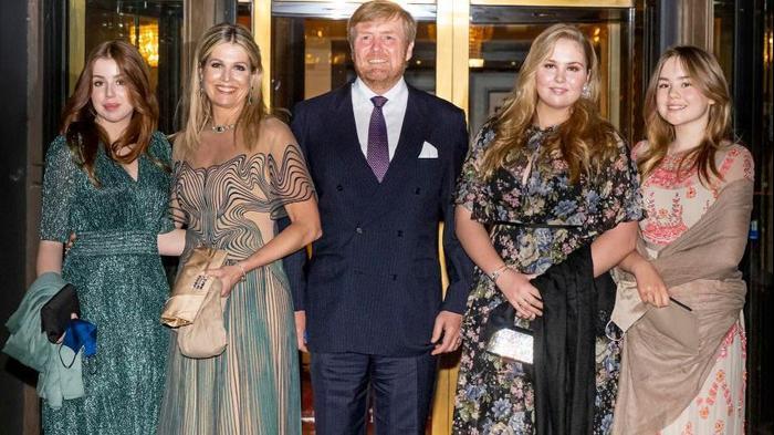 משפחת המלוכה הולנד המלכה מקסימה מלכת הולנד המלך וילם אלכסנדר מלך הולנד הנסיכה קתרינה אמליה הנסיכה אלכסיה הנסיכה אריאן. GettyImages