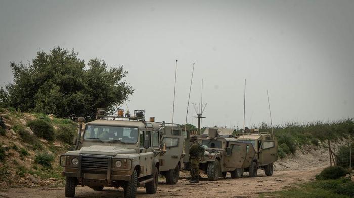 """כוחות צה""""ל בגבול לבנון 10 ביוני 2021. דובר צה""""ל"""