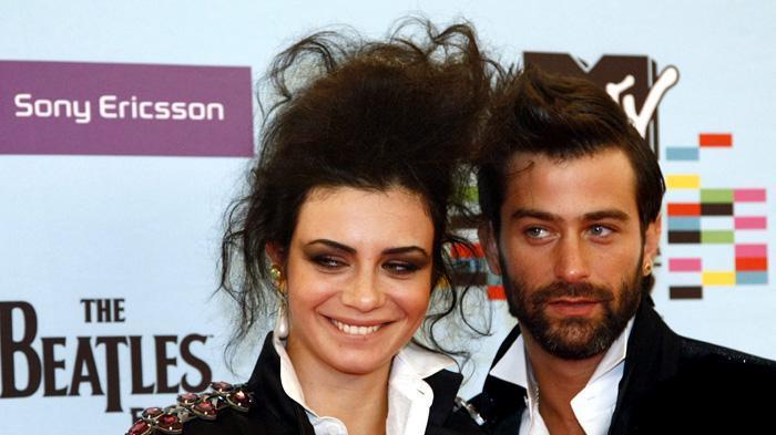 נינט טייב ויהודה לוי בטקס פרסי MTV אירופה. רויטרס