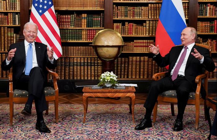 Джо Байден и Владимир Путин. Женева, 2021 год. רויטרס