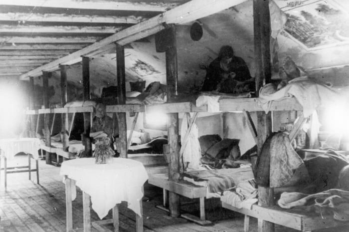 Воркутлаг - один из крупнейших исправительно-трудовых лагерей в системе ГУЛаг, Россия, Республика Коми, 1930-е годы.. Laski Diffusion, GettyImages