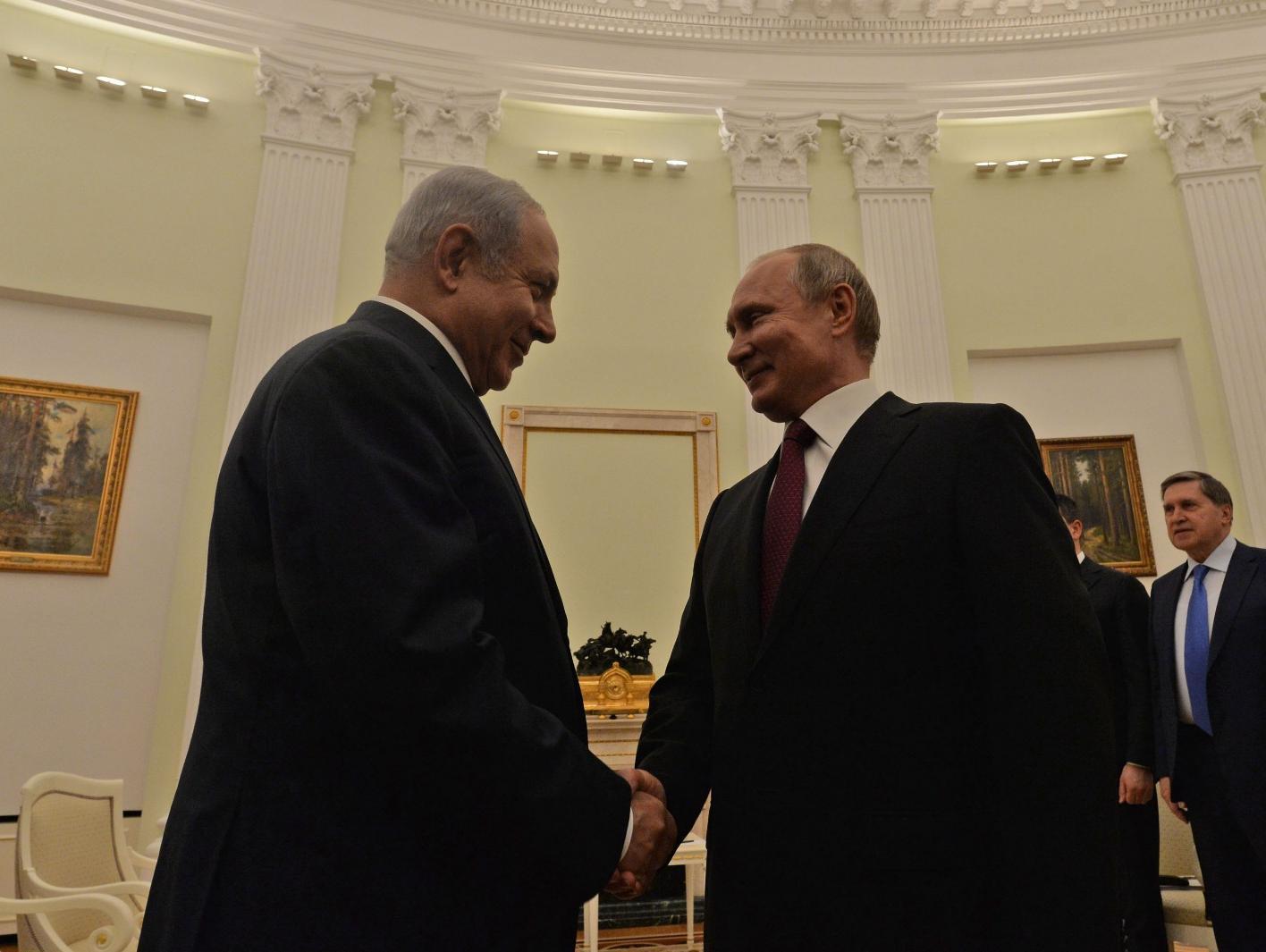 פוטין לנתניהו: יש לשפר את היחסים הצבאיים בין רוסיה לישראל