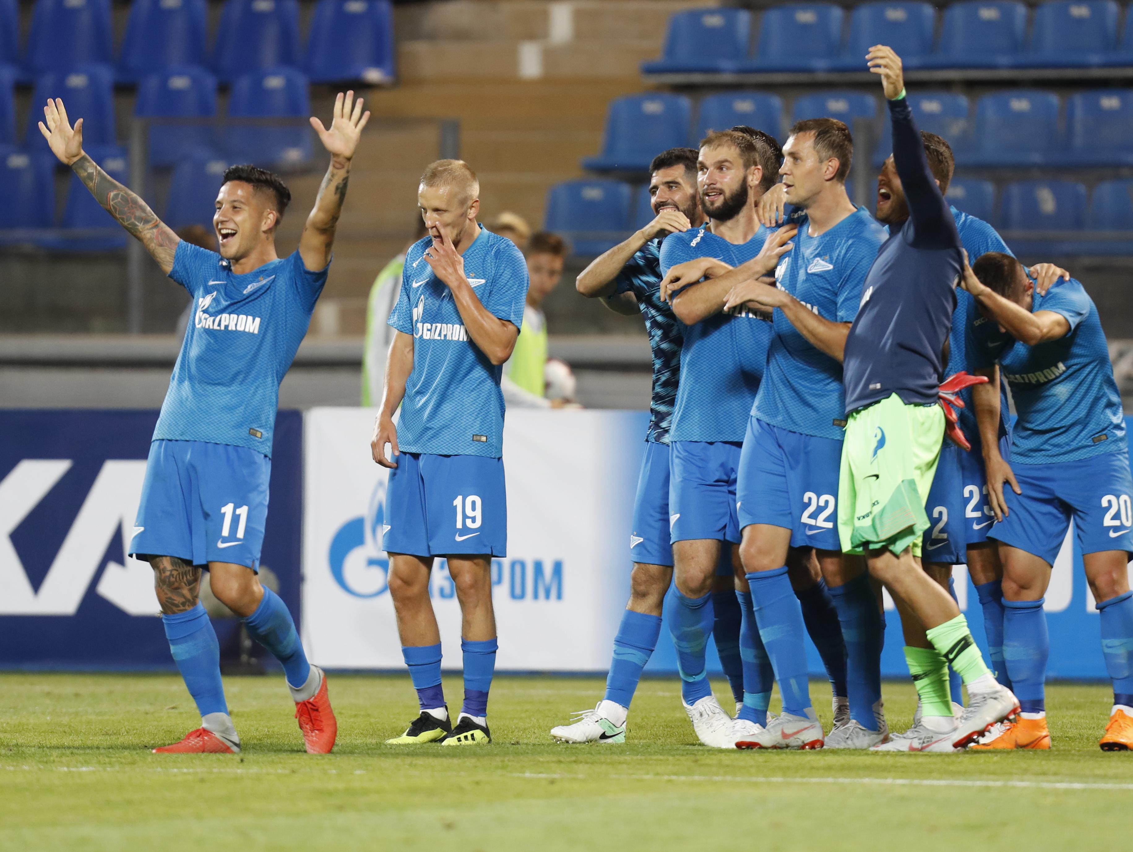 מוקדמות הליגה האירופית: זניט מחקה הפסד 4:0 עם ניצחון 1:8 בגומלין