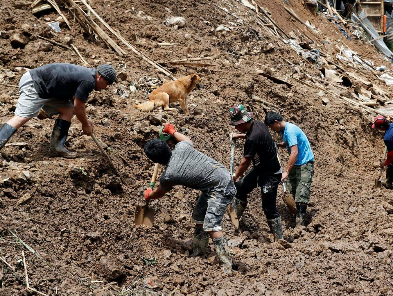 ניצולים סימסו מההריסות: עשרות הרוגים במפולת בוץ בפיליפינים