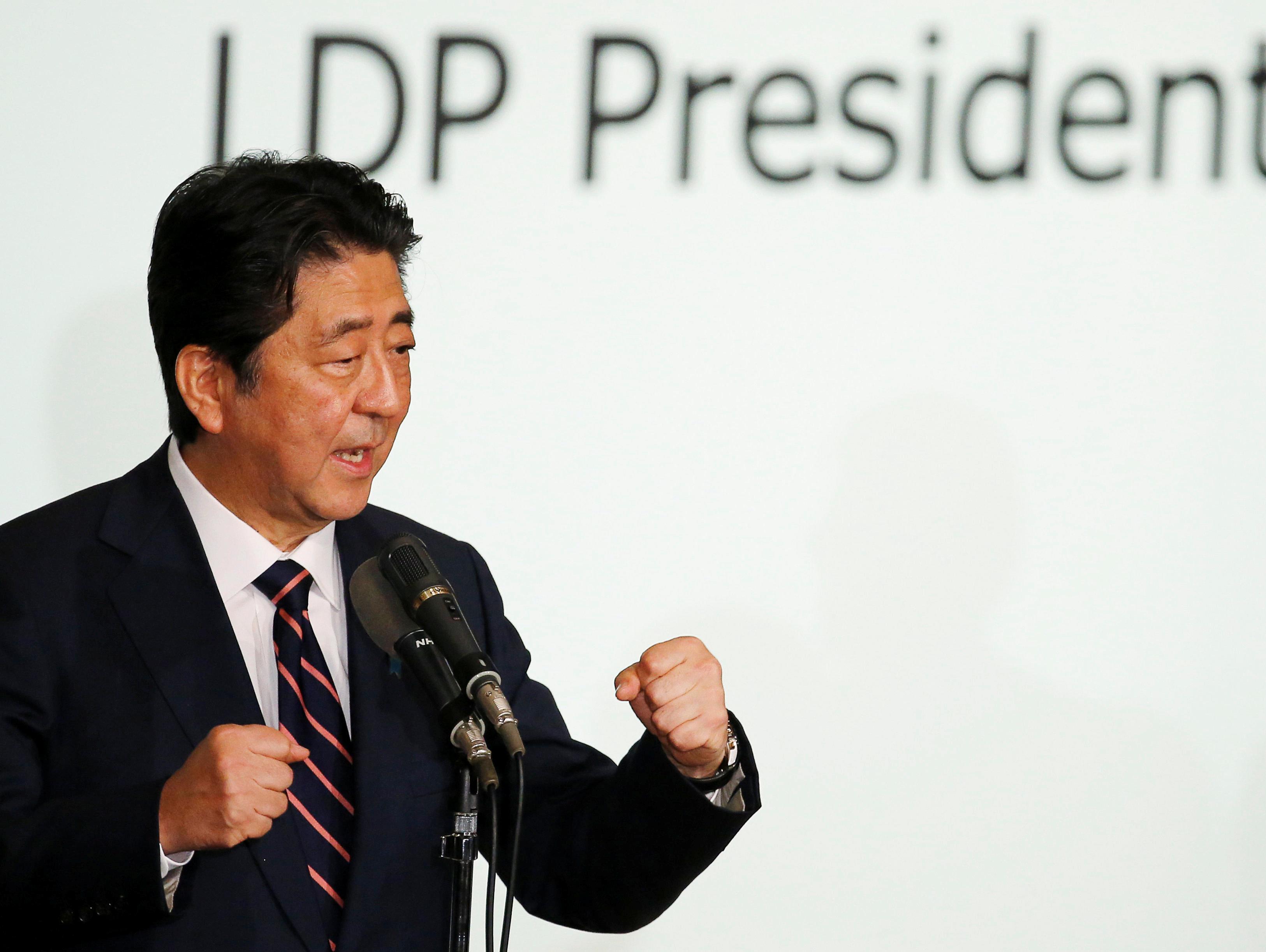 יפן: אבה זכה בפריימריז בדרך להיות ראש הממשלה הוותיק בתולדות המדינה